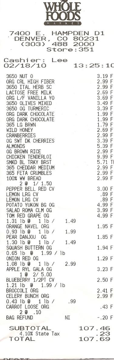 Grocery Bill1